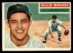 1956 Topps #103 GRY Willie Miranda  Front Thumbnail