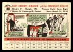 1956 Topps #36  Rudy Minarcin  Back Thumbnail