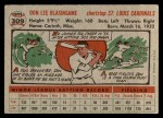 1956 Topps #309  Don Blasingame  Back Thumbnail