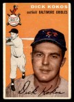 1954 Topps #106  Dick Kokos  Front Thumbnail