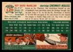 1954 Topps #120  Roy McMillan  Back Thumbnail
