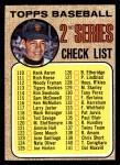 1968 Topps #107 B  -  Juan Marichal Checklist 2 Front Thumbnail