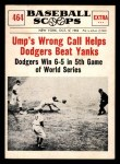 1961 Nu-Card Scoops #464    Ump's Wrong Call  Front Thumbnail