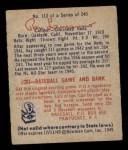 1949 Bowman #113  Ray Lamanno  Back Thumbnail