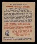 1949 Bowman #155  Fermin Guerra  Back Thumbnail