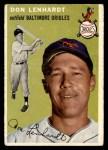 1954 Topps #157  Don Lenhardt  Front Thumbnail