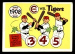 1970 Fleer World Series #5   -  Joe Tinker / Johnny Evers 1908 Cubs vs. Tigers   Front Thumbnail