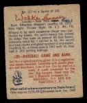 1949 Bowman #117  Walker Cooper  Back Thumbnail