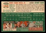 1954 Topps #163  Frank House  Back Thumbnail