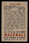 1951 Bowman #139  Doyle Lade  Back Thumbnail