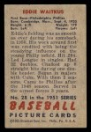 1951 Bowman #28  Eddie Waitkus  Back Thumbnail