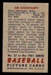 1951 Bowman #27  Jim Konstanty  Back Thumbnail