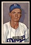 1951 Bowman #299  Clyde King  Front Thumbnail