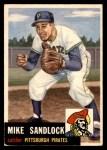 1953 Topps #247  Mike Sandlock  Front Thumbnail