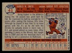 1957 Topps #41  Hal W. Smith  Back Thumbnail