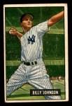1951 Bowman #74  Billy Johnson  Front Thumbnail