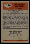 1955 Bowman #90  Tom Bettis  Back Thumbnail