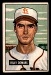 1951 Bowman #43  Billy DeMars  Front Thumbnail