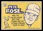 1970 Topps #458   -  Pete Rose All-Star Back Thumbnail