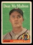 1958 Topps #147  Don McMahon  Front Thumbnail