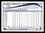 2014 Topps #2  Jhonny Peralta  Back Thumbnail