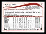 2014 Topps #5  Lance Lynn  Back Thumbnail