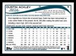 2014 Topps #9  Dustin Ackley  Back Thumbnail