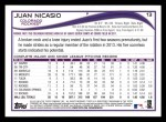 2014 Topps #13  Juan Nicasio  Back Thumbnail