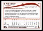 2014 Topps #23  Chris Heisey  Back Thumbnail