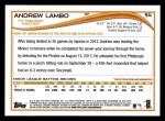 2014 Topps #54  Andrew Lambo  Back Thumbnail