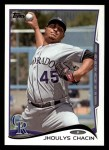 2014 Topps #69  Jhoulys Chacin  Front Thumbnail