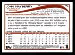 2014 Topps #74  John Mayberry  Back Thumbnail