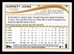 2014 Topps #79  Garrett Jones  Back Thumbnail