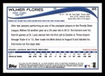 2014 Topps #86  Wilmer Flores  Back Thumbnail