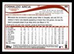 2014 Topps #88  Oswaldo Arcia  Back Thumbnail