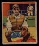 1935 Diamond Stars #47  Cliff Bolton   Front Thumbnail