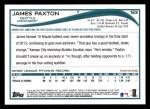 2014 Topps #123  James Paxton  Back Thumbnail