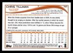 2014 Topps #141  Chris Tillman  Back Thumbnail