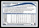 2014 Topps #173  Brandon League  Back Thumbnail