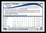 2014 Topps #187  Justin Turner  Back Thumbnail