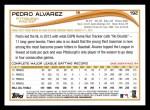2014 Topps #192  Pedro Alvarez  Back Thumbnail