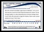 2014 Topps #195  Nick Castellanos  Back Thumbnail