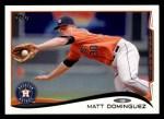 2014 Topps #218  Matt Dominguez  Front Thumbnail