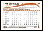 2014 Topps #218  Matt Dominguez  Back Thumbnail