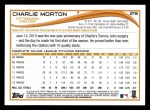 2014 Topps #219  Charlie Morton  Back Thumbnail