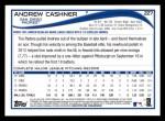 2014 Topps #227  Andrew Cashner  Back Thumbnail
