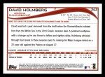 2014 Topps #242  David Holmberg  Back Thumbnail
