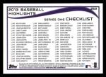 2014 Topps #253   -  Todd Helton Checklist 4 - Baseball Highlights Back Thumbnail