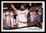 2014 Topps #253   -  Todd Helton Checklist 4 - Baseball Highlights Front Thumbnail
