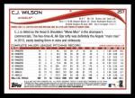 2014 Topps #257  C.J. Wilson  Back Thumbnail